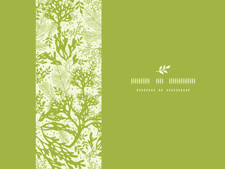 Vector green underwater seaweed horizontal seamless pattern