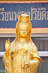 goddess guan-yin statue in thailand