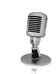 Silver vintage microphone