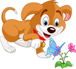 Puppy and Butterfly