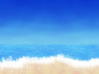 Cartoon beach