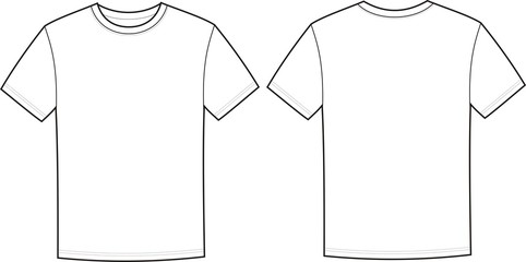 t shirt front and back vector