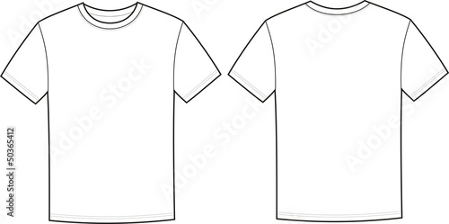Quot Vector Illustration Of T Shirt Front And Back Views