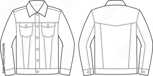 Vector Fashion Illustration Of Jeans Jacket Stock Image And