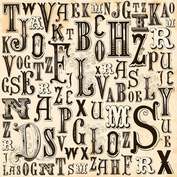 Vintage Alphabet background