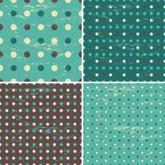 Seamless Polka Dot Patterns Collection