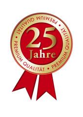 25 Jahr Plakette