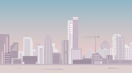 modern city panoramic view