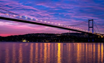 sunrise at the bosporus bridge