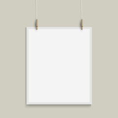 Vector template of paper sheet
