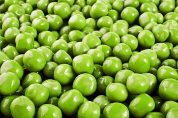 Food background - green peas closeup