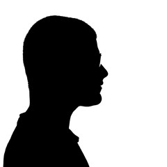 Man Side Profile Silhouette