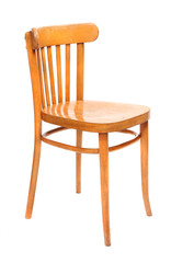 Classic wooden chair on a white background.