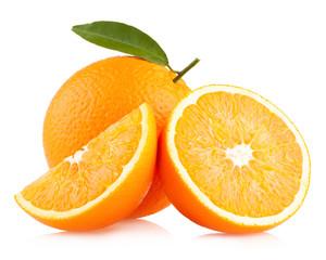 ripe orange with slices