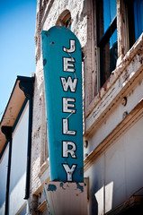 Old vintage downtown Jewelry sign