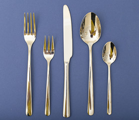 Silverware Set with Fork, Knife, and Spoon