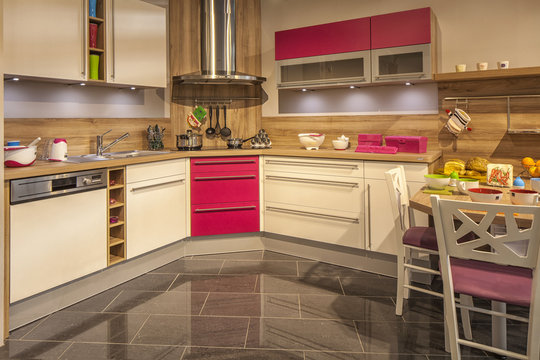 Küche, Einbauküche, Küchenherd, Essen, schöner Wohnen