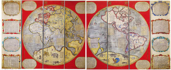 Wall Mural - Japanese vintage map of the World