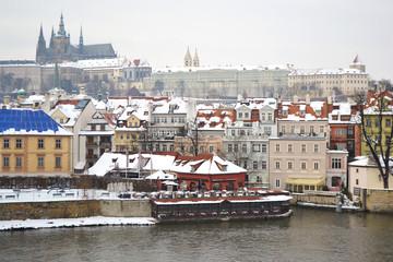 Quay in center of Prague