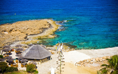 Garden Poster Cyprus amazing colorful beach in Cyprus