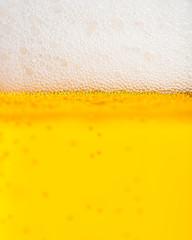 Bier: Detailierter Ausschnitt der Schaumkrone