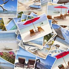 """photos souvenirs """"vacances à la plage"""", île Maurice"""