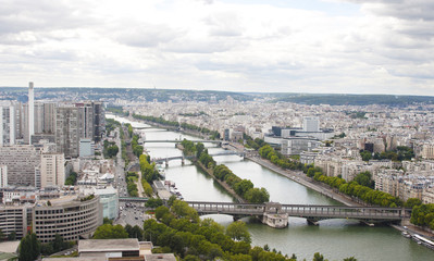 Paris viewed from the top of Eiffel Tower