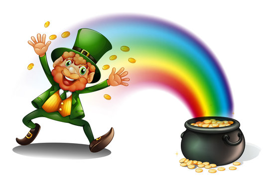 A man with a pot of golds