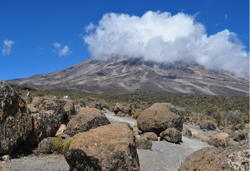 Clouds over Kilimanjaro