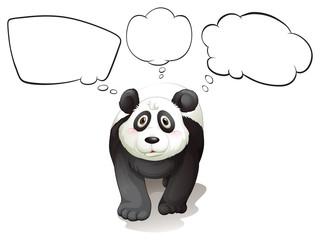 A thinking panda