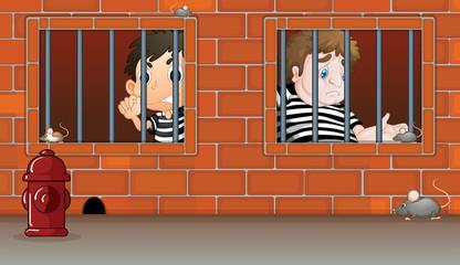 Men in the jail