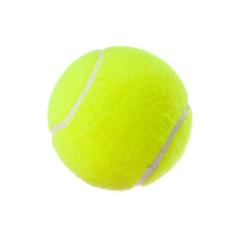 Tennisball isoliert auf weiß