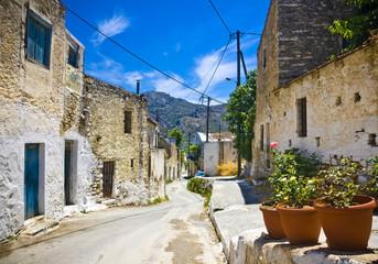 Typical village in Crete