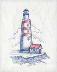 Vector illustration of lighthouse