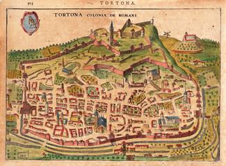Wall Mural - Italian city medieval map