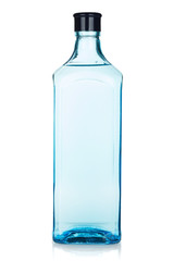 Glass gin bottle
