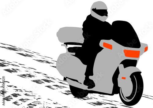 Wall mural Bike motor