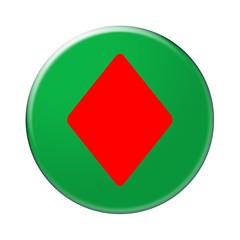 Bottone gioco quadri
