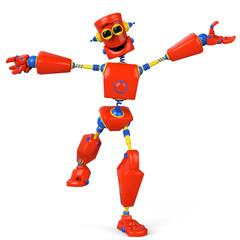 Spoed Foto op Canvas Robots collorfull robot is super happy