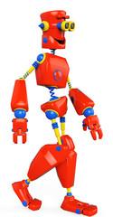 Spoed Foto op Canvas Robots colorfull robot is walking