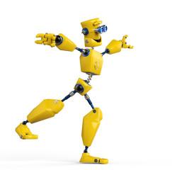 Spoed Foto op Canvas Robots yellow robot is equilirium