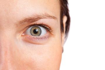 open woman eye