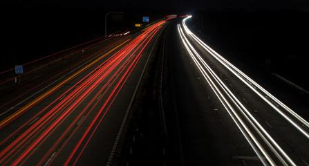 M4 Motorway Light Trails