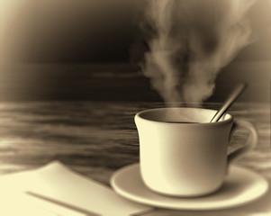 Café efecto blanco y negro