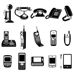 Phone evolution vector icons