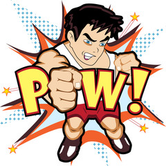 Papiers peints Comics Fighter punch vector concept