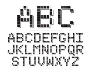 Printed kitchen splashbacks Pixel 8 Bit Font