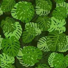 Spoed Fotobehang Tropische Bladeren Seamless pattern, fabric, wallpaper, ornament for decoration