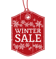 Winter Sale Vintage Label