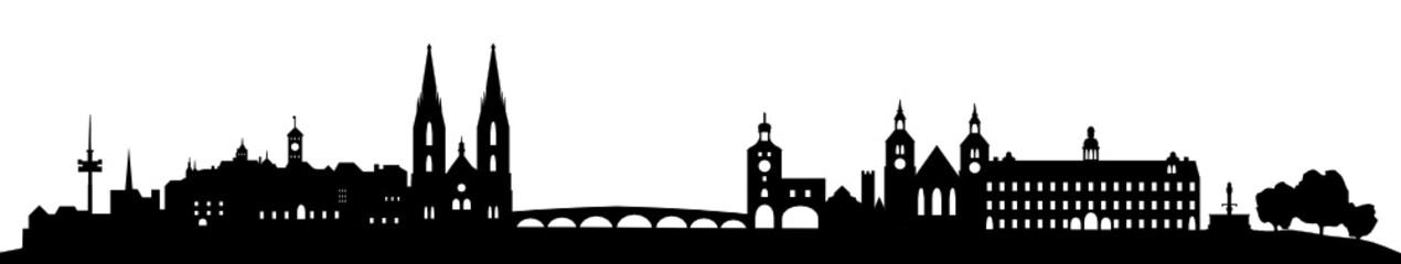 Wall Mural - Regensburg Skyline